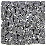 Divero Andesit Naturstein-Mosaik Fliesen für Wand Boden Bruchstein grau 11 Matten 30 x 30cm