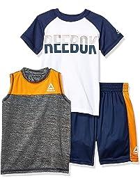 new arrival 439c1 0f55c Reebok Boys Sleeve Athletic T-Shirt, Tank Top, and Short Set