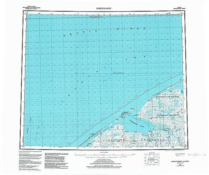 Amazon.com : YellowMaps Shishmaref AK topo map, 1:250000 ...