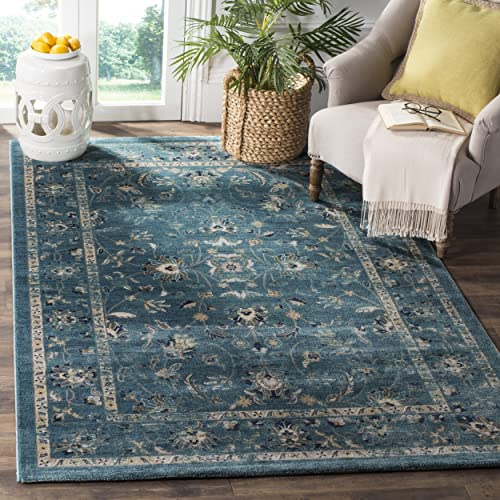Safavieh Evoke Collection EVK514G Oriental Turquoise and Beige Area Rug 5'1″ x 7'6″