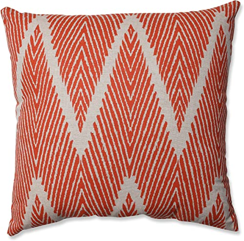 Pillow Perfect Bali Mandarin Throw Pillow, 18-inch, Coral Taupe