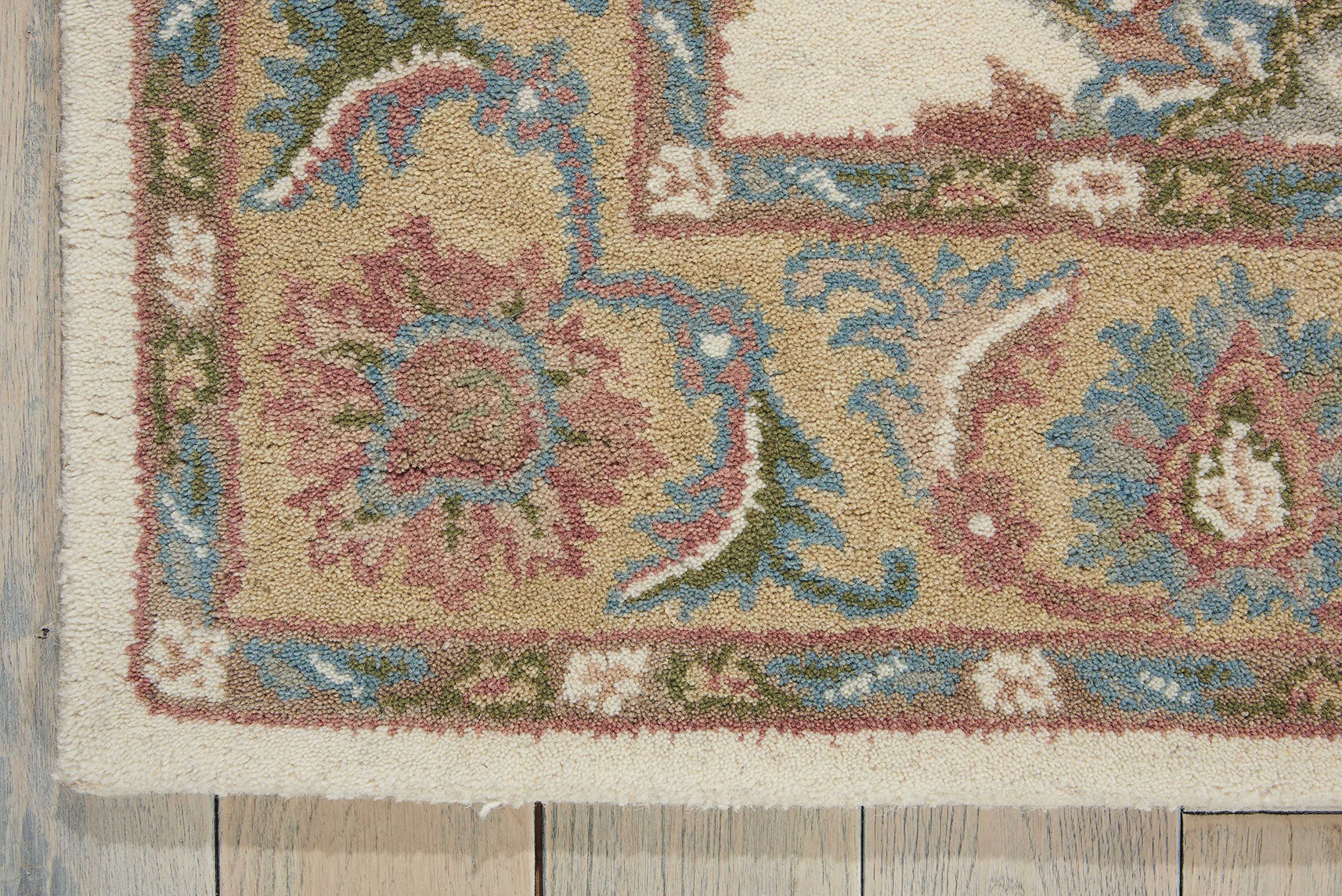 Nourison India House (IH05) Ivory/Gold Runner Area Rug, 2-Feet 3-Inches by 7-Feet 6-Inches (2'3'' x 7'6'') by Nourison (Image #4)