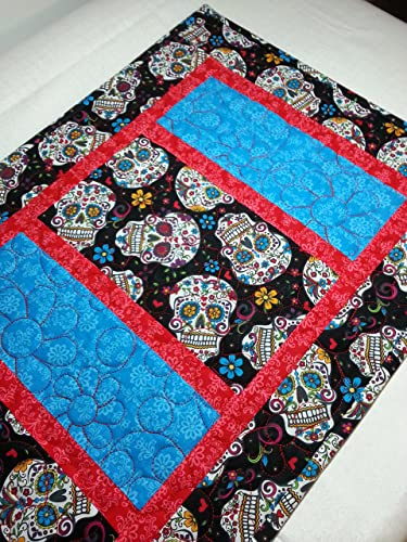 Amazon com: Day of the Dead Sugar Skulls Quilted Table
