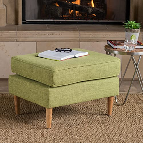 Christopher Knight Home Samuel Mid Century Modern Muted Green Fabric Ottoman,