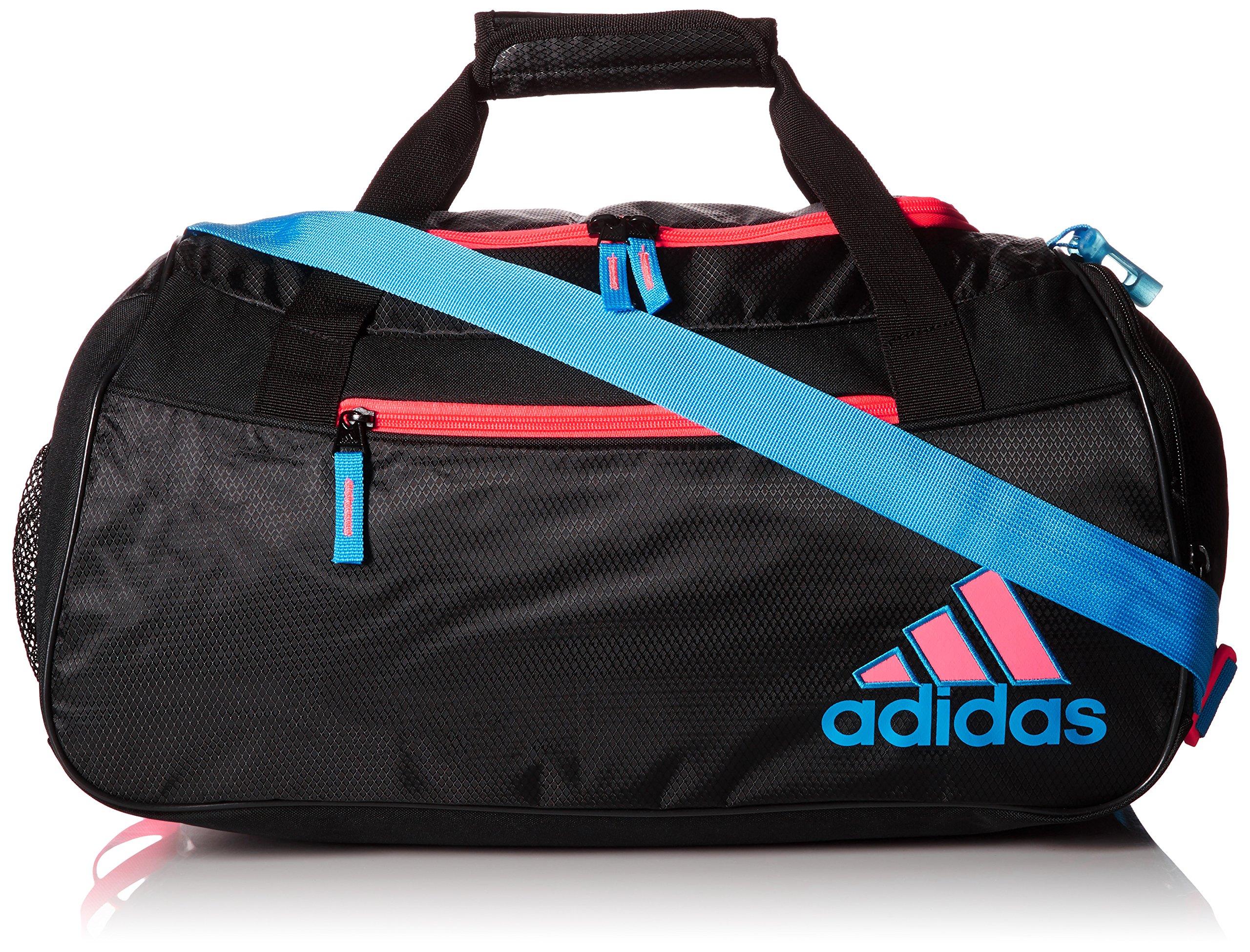 adidas Squad II Duffel, Black/Solar Blue/Flash Red Pink, One Size