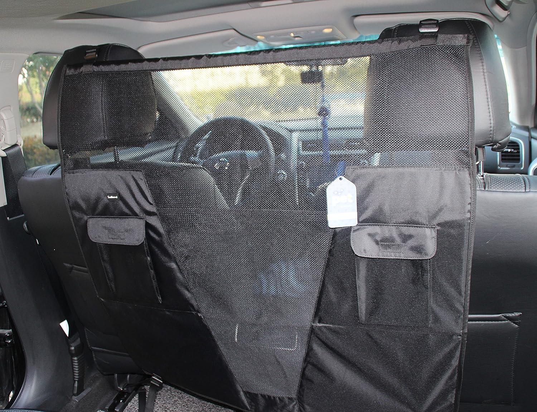 Elastic Adjustable Pet Safety Travel Isolation Net Back Seat Dog Barrier 8C