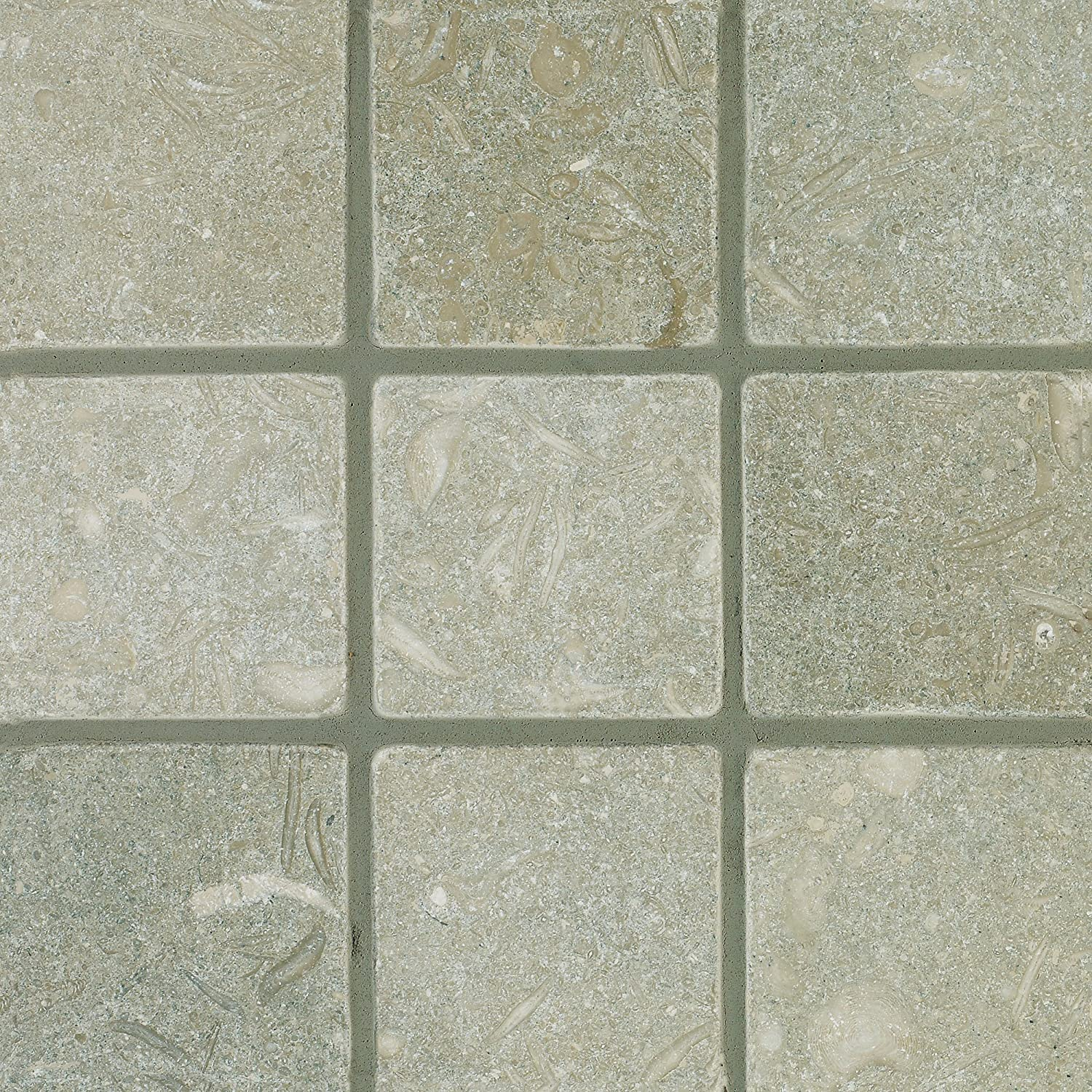Seagrass 5-Total Square Feet Arizona Tile 4 by 4-Inch Tumbled Limestone Tile