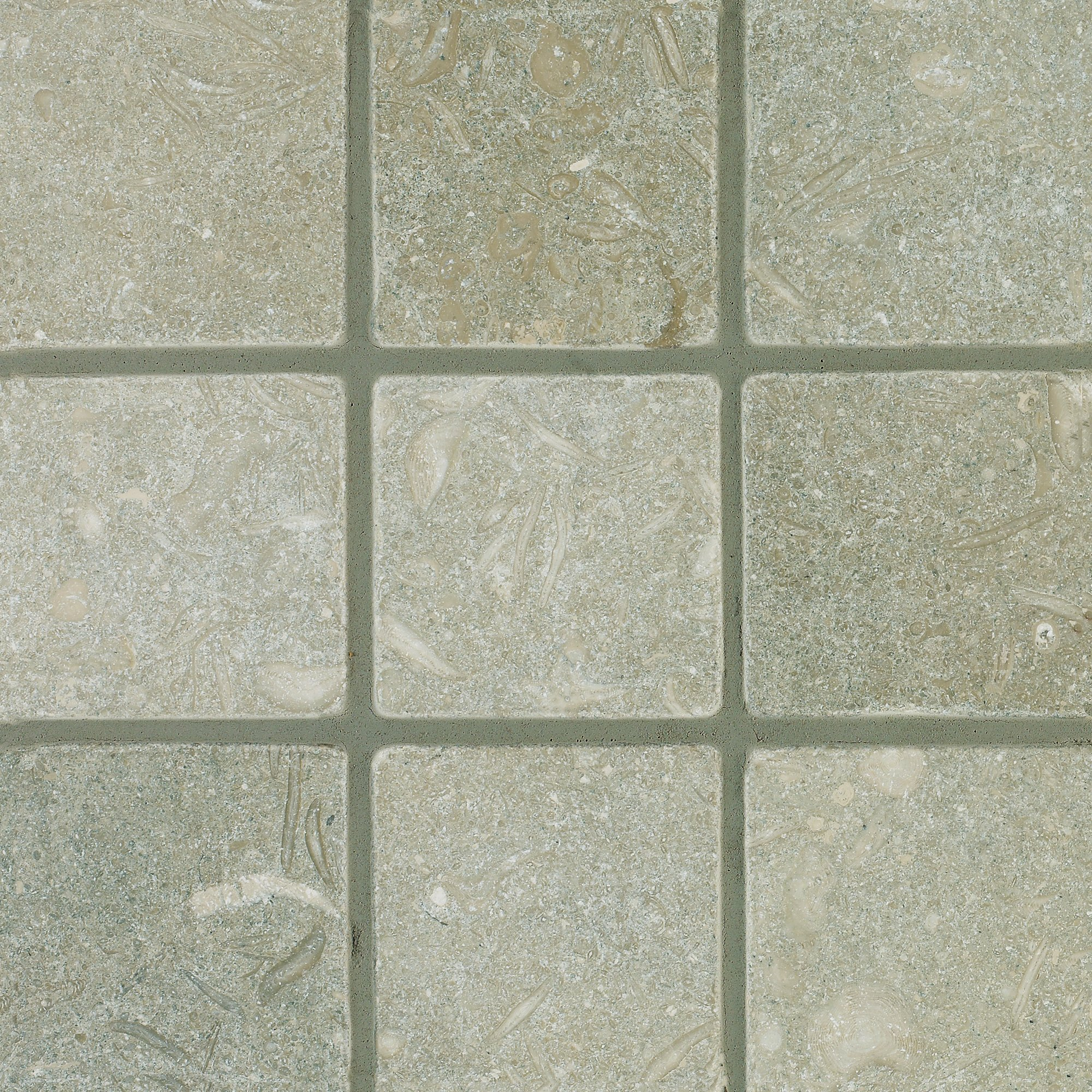 Arizona Tile 4 by 4-Inch Tumbled Limestone Tile, Seagrass, 5-Total Square Feet