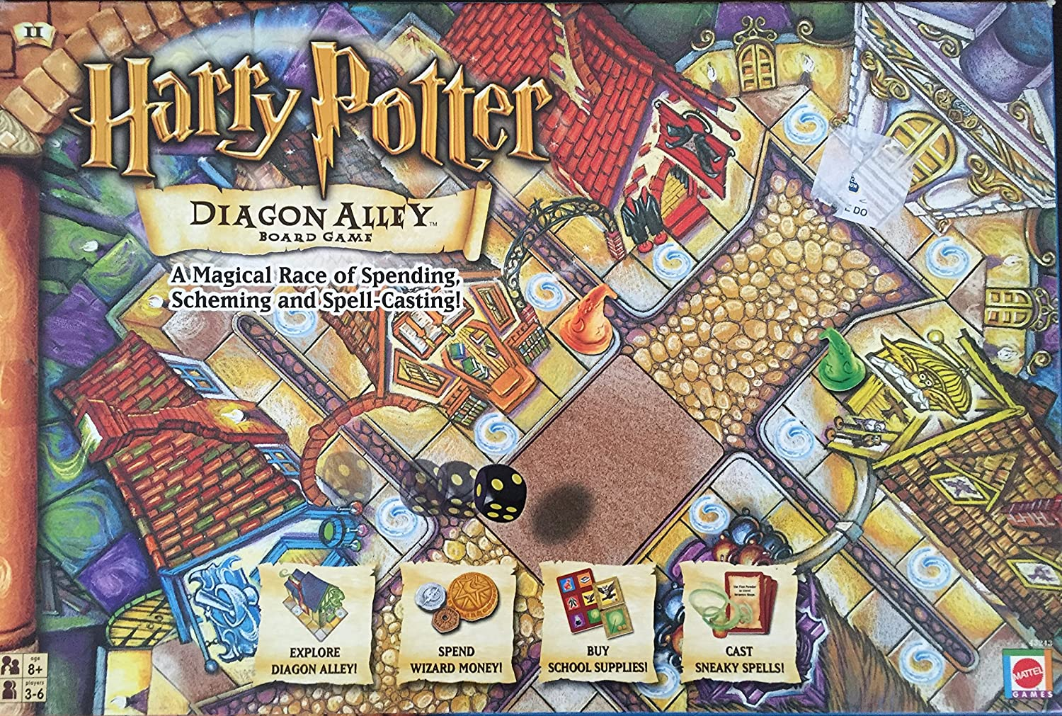Harry Potter Diagon Alley Board Game by Mattel Games: Amazon.es ...