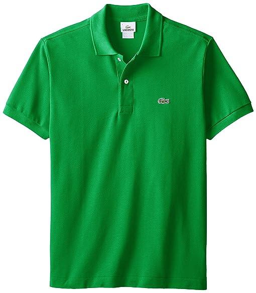 2e08c0eefd0d Lacoste Men s Short Sleeve Pique L.12.12 Original Fit Polo Shirt,  Chlorophyll Green,