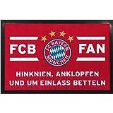 Fußball 21715 FC Bayern München Kuschelfleecedecke rot/weiß