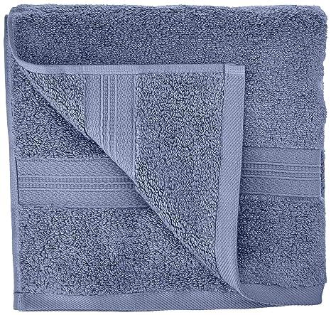 Pinzon - Juego de toallas de algodón Pima (2 toallas de mano), color azulón: Amazon.es: Hogar