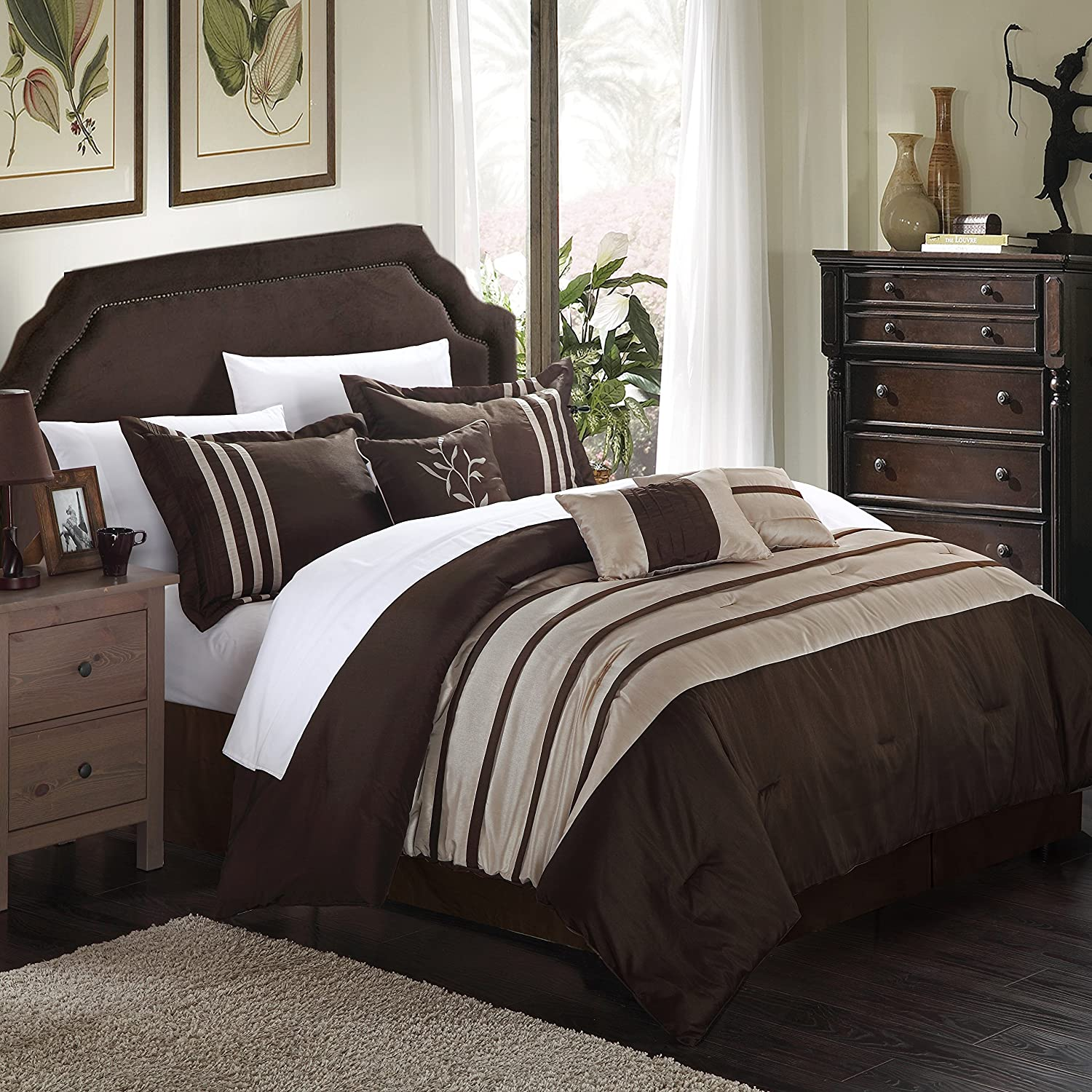 sets taupe queen bedding lace vintage expand p set click to t comforter