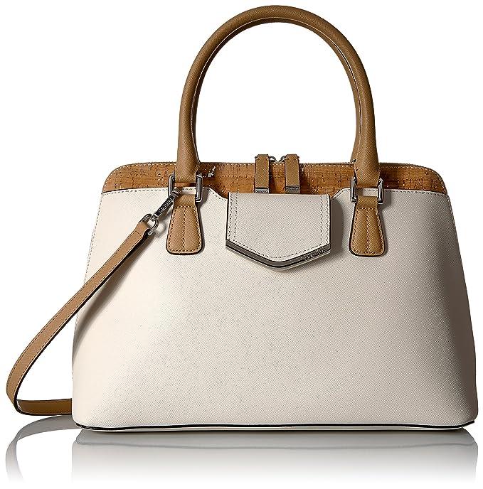 Amazon.com: Calvin Klein My esquina corcho Saffiano Satchel ...