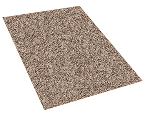 Koeckritz 5 x8 Indoor Frieze Shag Area Rug – Bramble II- Plush Textured Carpet with Premium Bound Polyester Edges.