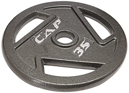 Amazon Cap Barbell Free Weights 10 Pounds Olympic Grip Plate