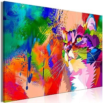 murando - Cuadro Gato 120x80 cm - 1 Parte impresión en Material Tejido no Tejido Cuadro de Pared impresión artística fotografía Imagen gráfica decoración ...