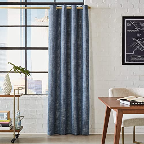 Amazon Brand Rivet Modern Grommet Curtain Panel – 84 x 52 Inch, Navy