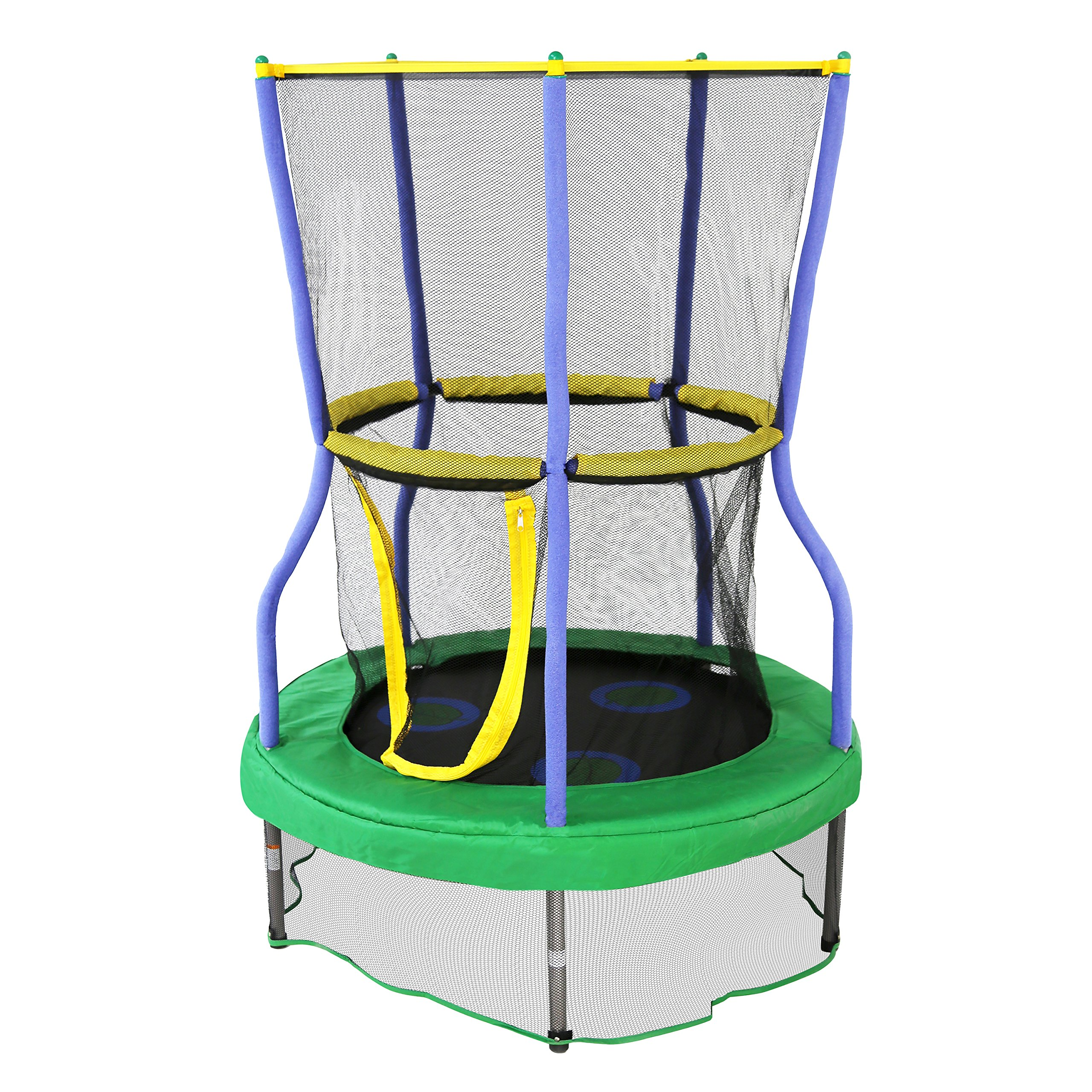 "Skywalker Trampolines 40"" Round Lily Pad Adventure Trampoline Mini Bouncer with Enclosure"