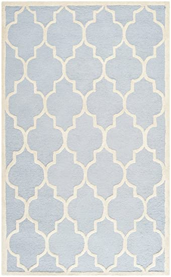 Teppich hellblau  Safavieh CAM134A-4 Everly Textur Teppich, Wolle, hellblau ...