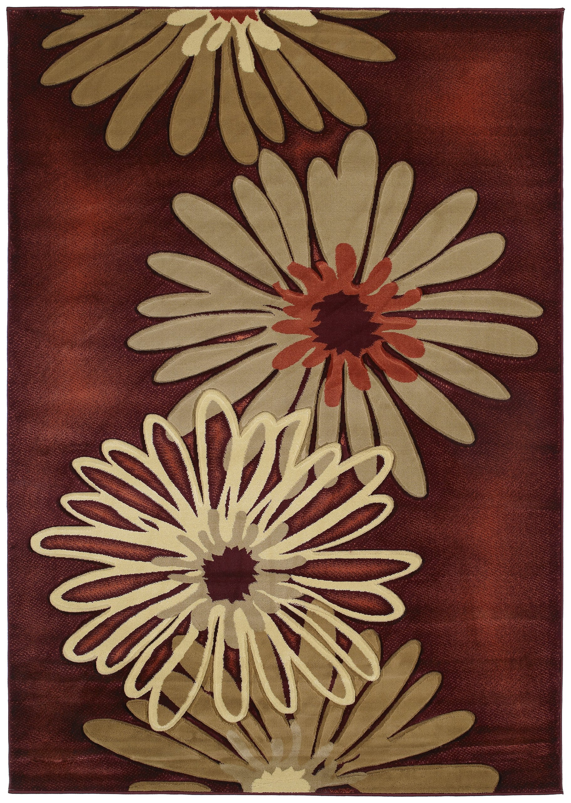 United Weavers Contours Collection Dahlia Heavyweight Heatset Olefin Rug, 5-Feet 3-Inch by 7-Feet 6-Inch by United Weavers of America