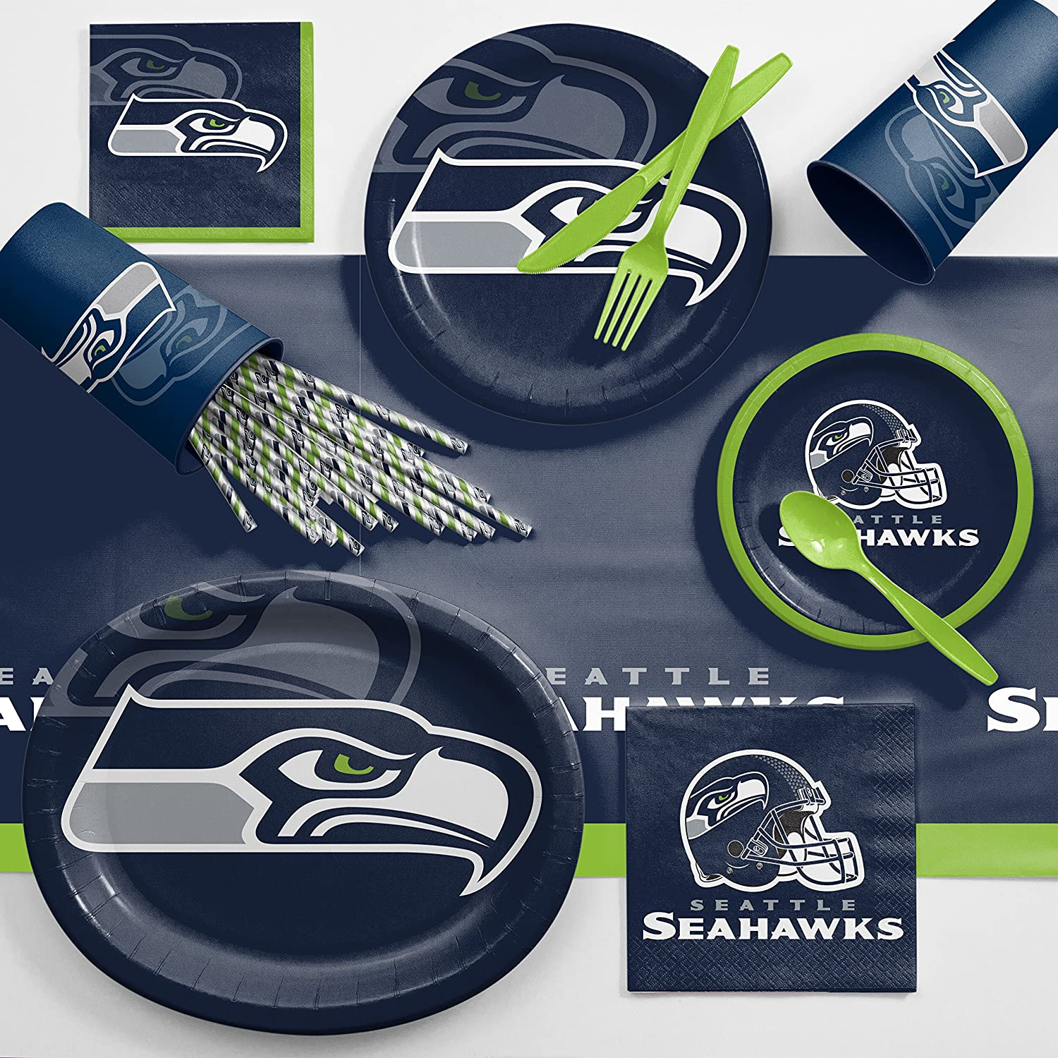 Amazon Seattle Seahawks Ultimate Fan Party Supplies Kit Health