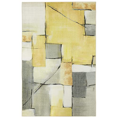 Mohawk Home Prismatic Painted Geo Abstract Patchwork Printed Contemporary Area Rug 5 x8 ,