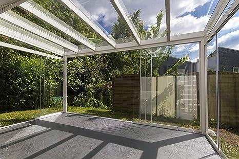 Escurrido Terra abatibles para para terraza. Frontal acristalamiento. 3 gleisig con 5 alas (4000 X 2200 mm, Antracita): Amazon.es: Jardín