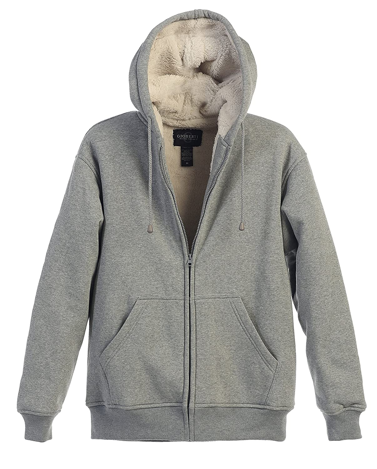 Gioberti Boys Sherpa Lined Zip Up Fleece Hoodie Jacket FH-86