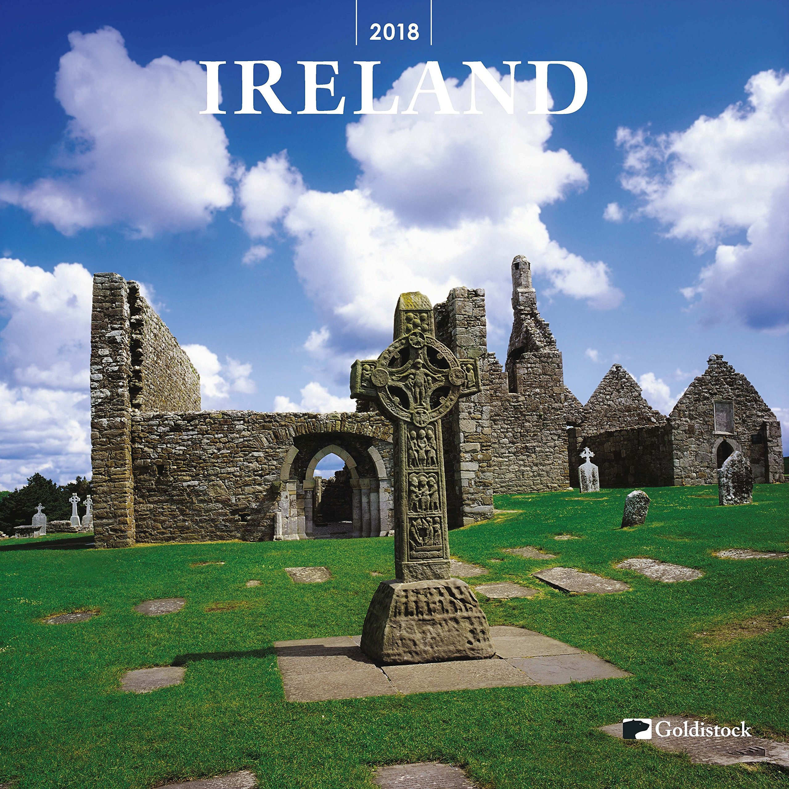 Goldistock -''Ireland'' 2018 Large Wall Calendar - 12'' x 24'' (Open) - Thick & Sturdy Paper - Beautiful Images of Historic Ireland