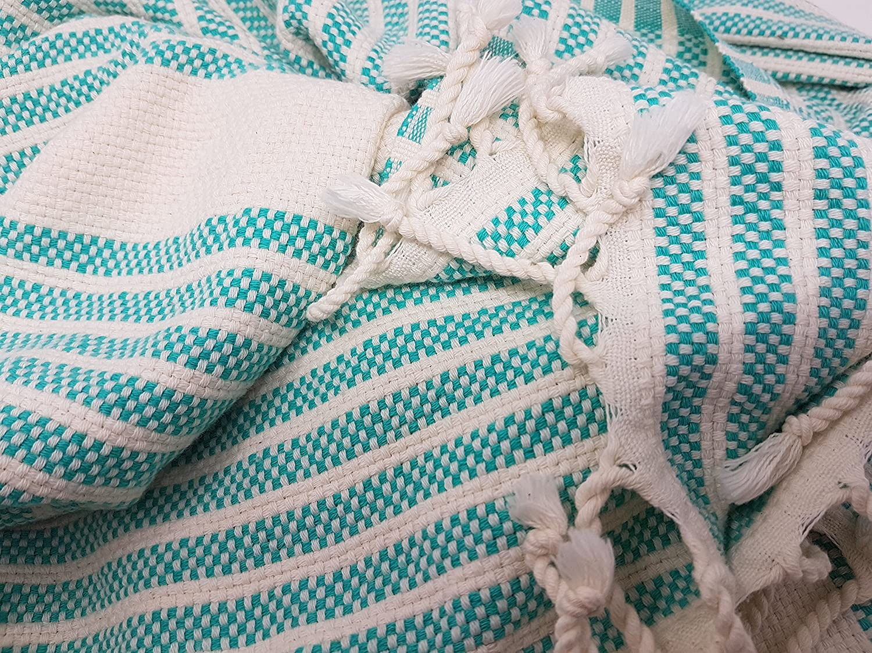 Bella casa Marmora - Toalla para Sauna, pestemal, Fouta, Toalla de Playa, Toalla de baño, Toalla de Mano, algodón, Mochila 100 x 180 cm, 100% algodón, ...