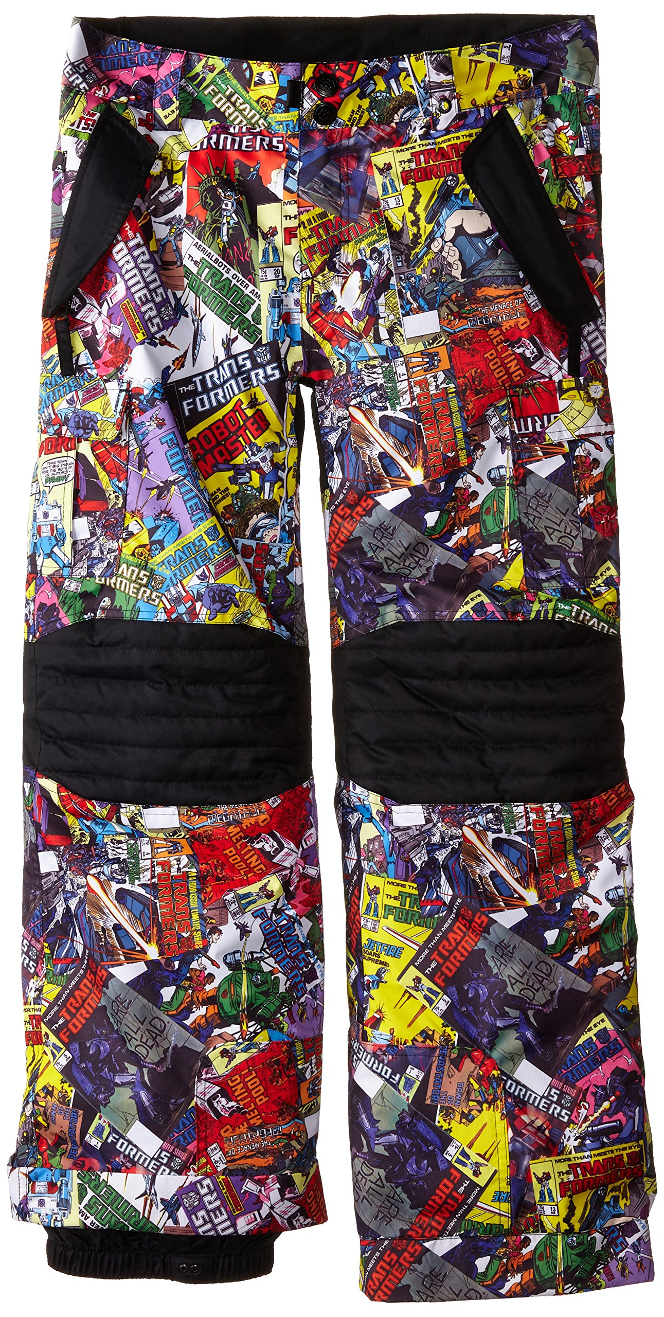 686 Boy's Transformer Insulated Pant, Medium, Cosmic Book Print by 686