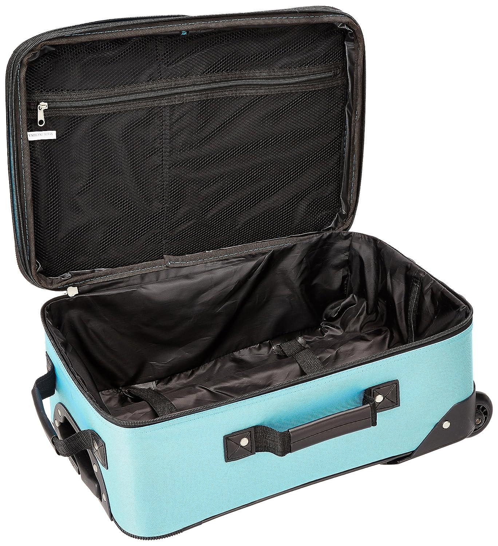 ROCKLAND Luggage 2-Piece Set, Black//Gray, One Size Fox Luggage F102-BLACK//GRAY