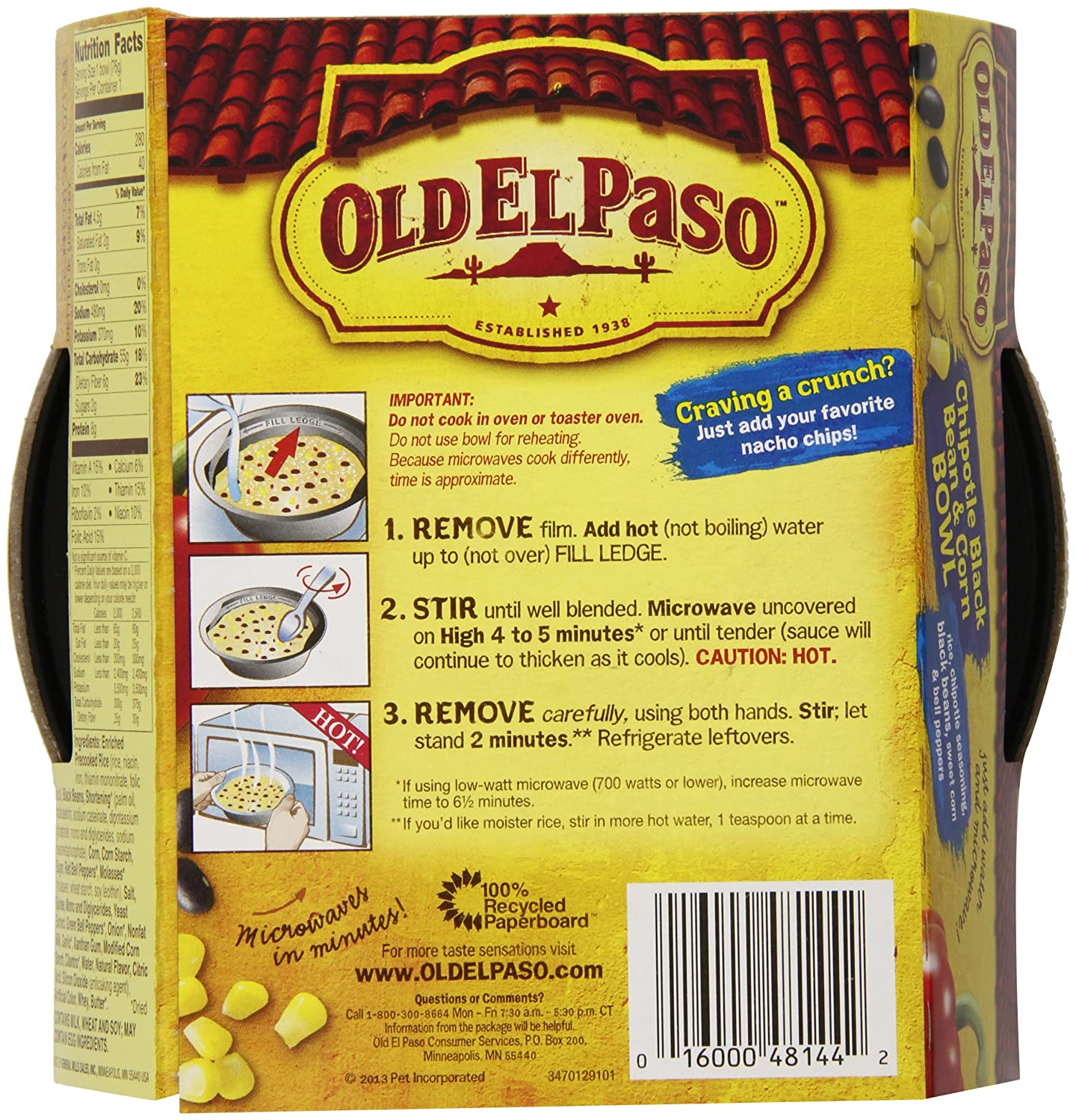 amazon com old el paso cheesy nacho bowl 2 5 oz 12 pack amazon com old el paso cheesy nacho bowl 2 5 oz 12 pack tacos grocery gourmet food