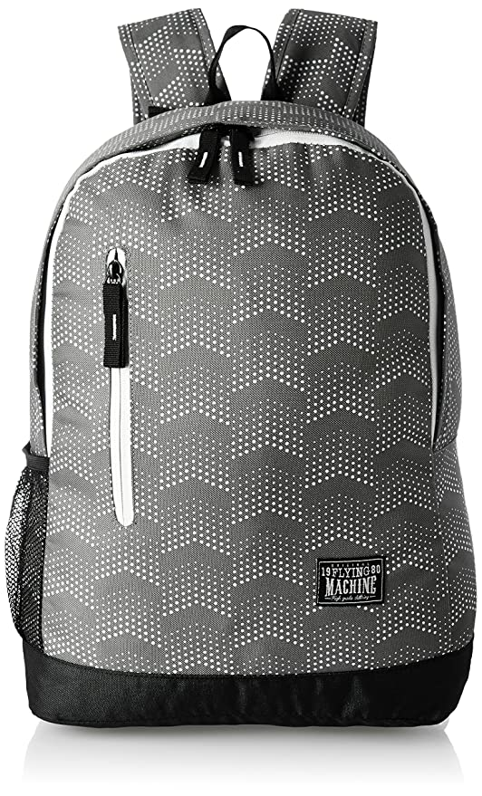 88aff24ded6c Flying Machine Fabric Grey Laptop Backpack (FMLO8150)  Amazon.in  Bags