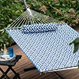 greek key quilted hammock with rust resistant tri beam steel stand amazon    castaway q8205 large quilted hammock   green white      rh   amazon