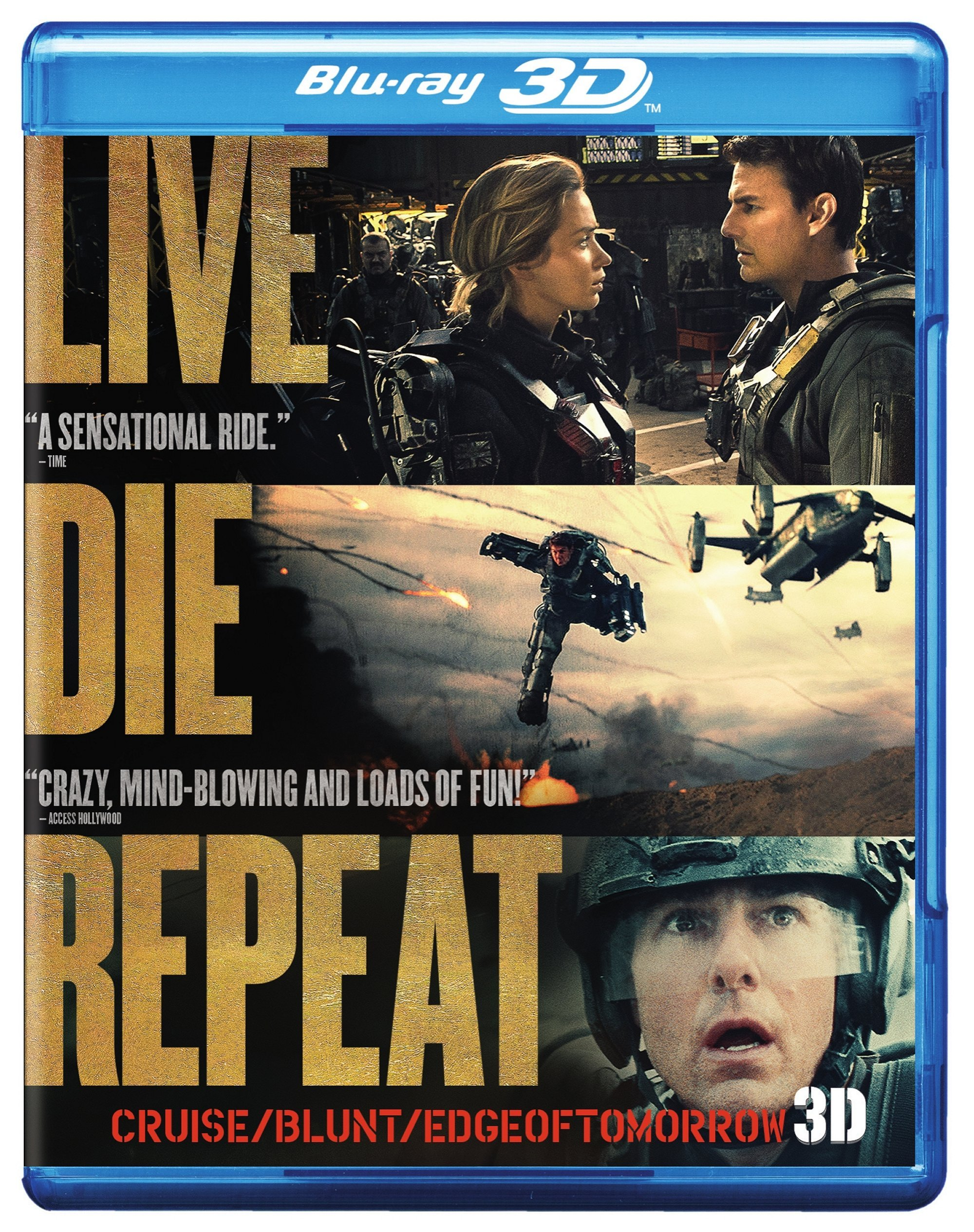 Blu-ray 3D : Live Die Repeat: Edge Of Tomorrow (With DVD, With Blu-Ray, Dolby, AC-3, Digital Theater System)