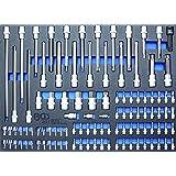 BGS 4016 Werkstattwageneinlage 3//3: Maul//Ringschl/üssel 26-tlg. Ratschen-Ringschl/üssel