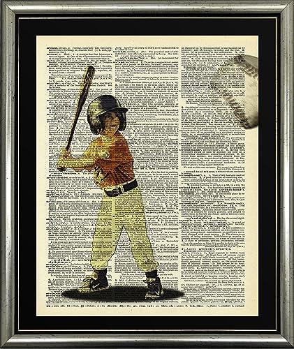 Amazon.com: Handmade Kitchen Wall Art Baseball Boy Picture Not ...