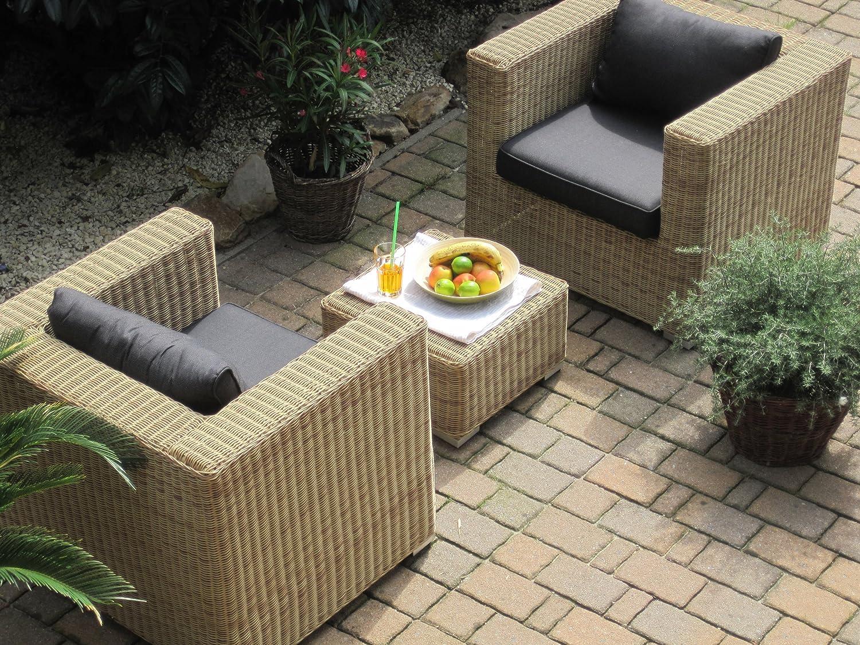 Amazon.de: Lounge Wohnlandschaft 1 Sofa 2 Sessel 1Tisch 1 Hocker ...
