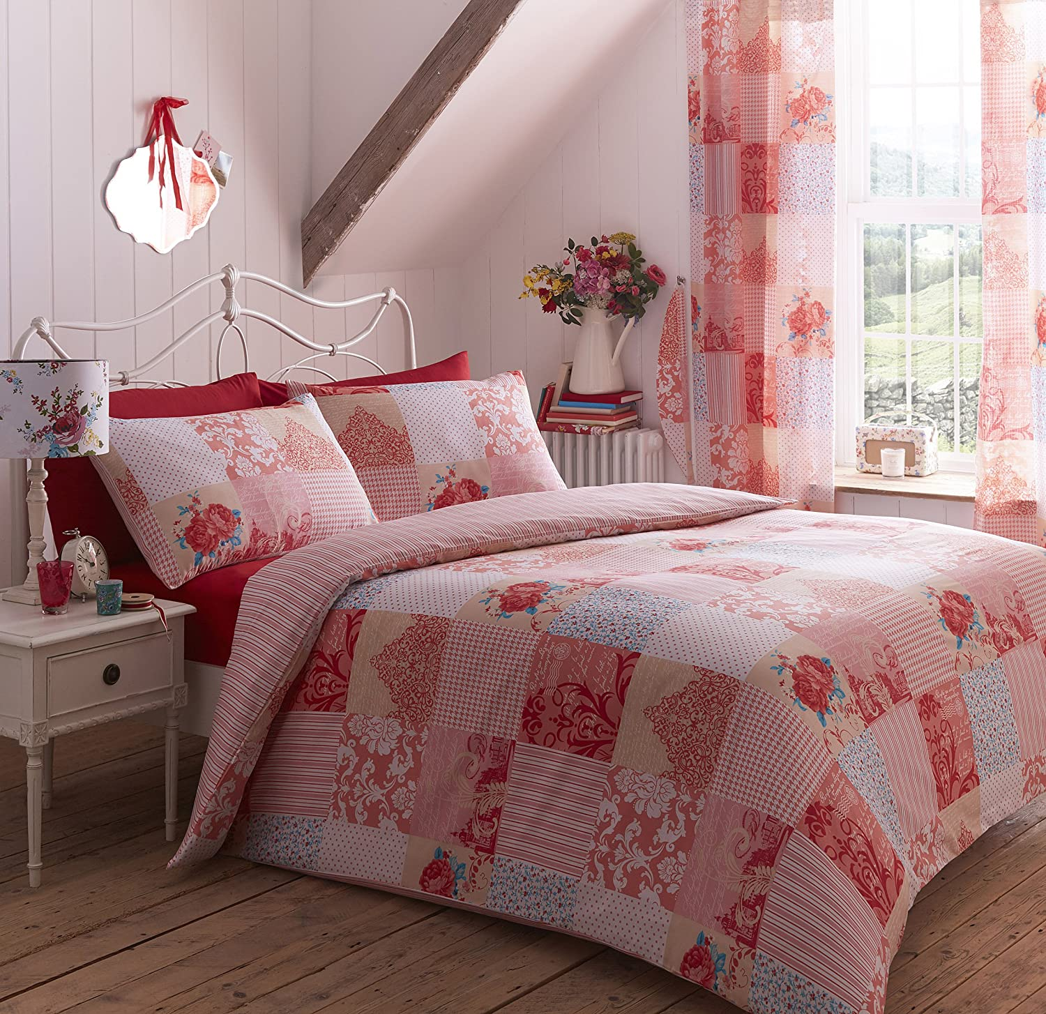 just pink contempo duvet patchwork cover set moroccan online