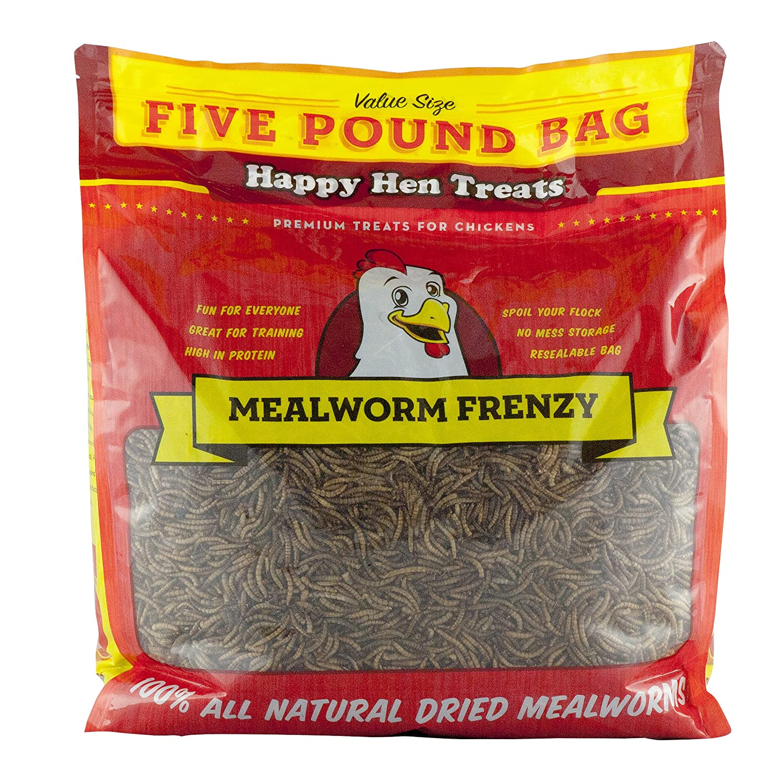 Happy Hen Treats Mealworm Frenzy Pet Treat (1 Pouch), 5 lb Randall Burkey Company 17006