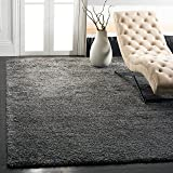 Safavieh California Premium Shag Collection SG151-8484 2-inch Thick Area Rug, 11' x 15', Dark Grey