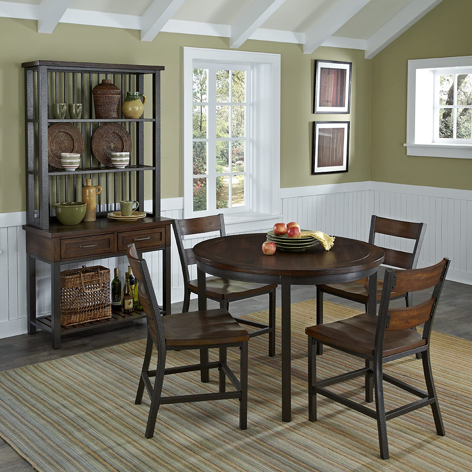 Amazon Home Styles 5411 308 Cabin Creek 5 piece Dining Set