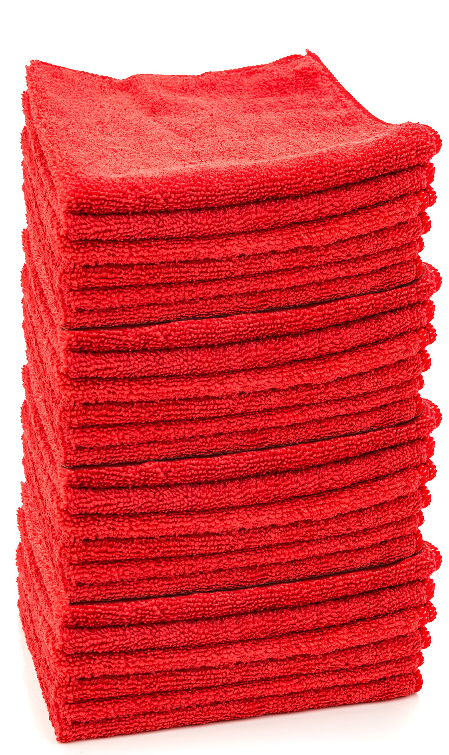 Dry Rite Premium Microfiber Cloth - Pack of 24 Best Cleaning Towels for Fine Auto Finishes, Chrome, Kitchen, Bath, TV, Great for Glass- Non Scratching, Use Wet/Dry- 16x16