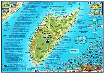 Amazoncom Cozumel Mexico Dive Snorkel Adventure Guide Map