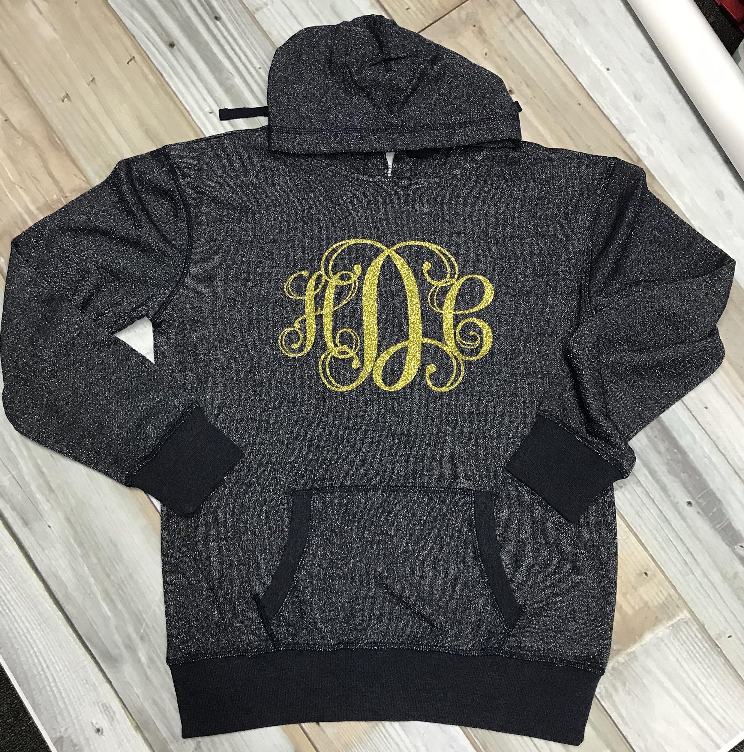 Monogrammed Glitter hoodie