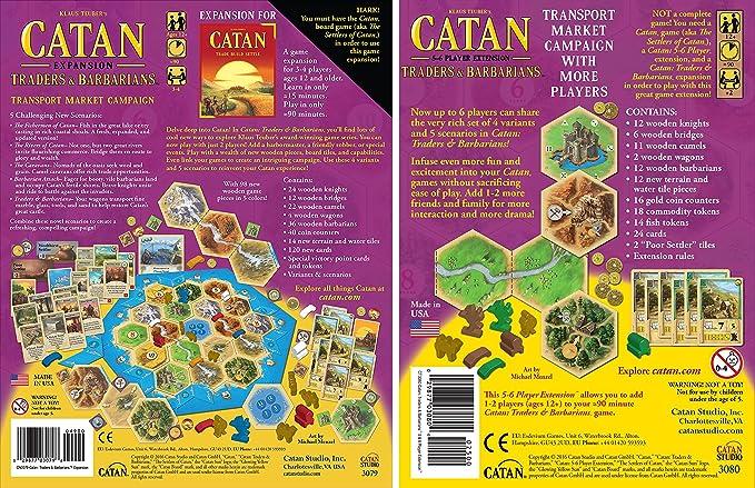 Catan: Traders & Barbarians (5ª edición) con Catan: Traders & Barbarians 5-6 Player Extension 5th Edition: Amazon.es: Juguetes y juegos