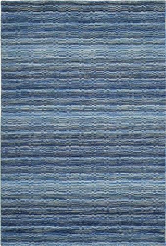 Safavieh Himalaya Collection HIM707A Handmade Blue and Multi Premium Wool Area Rug 2' x 3'