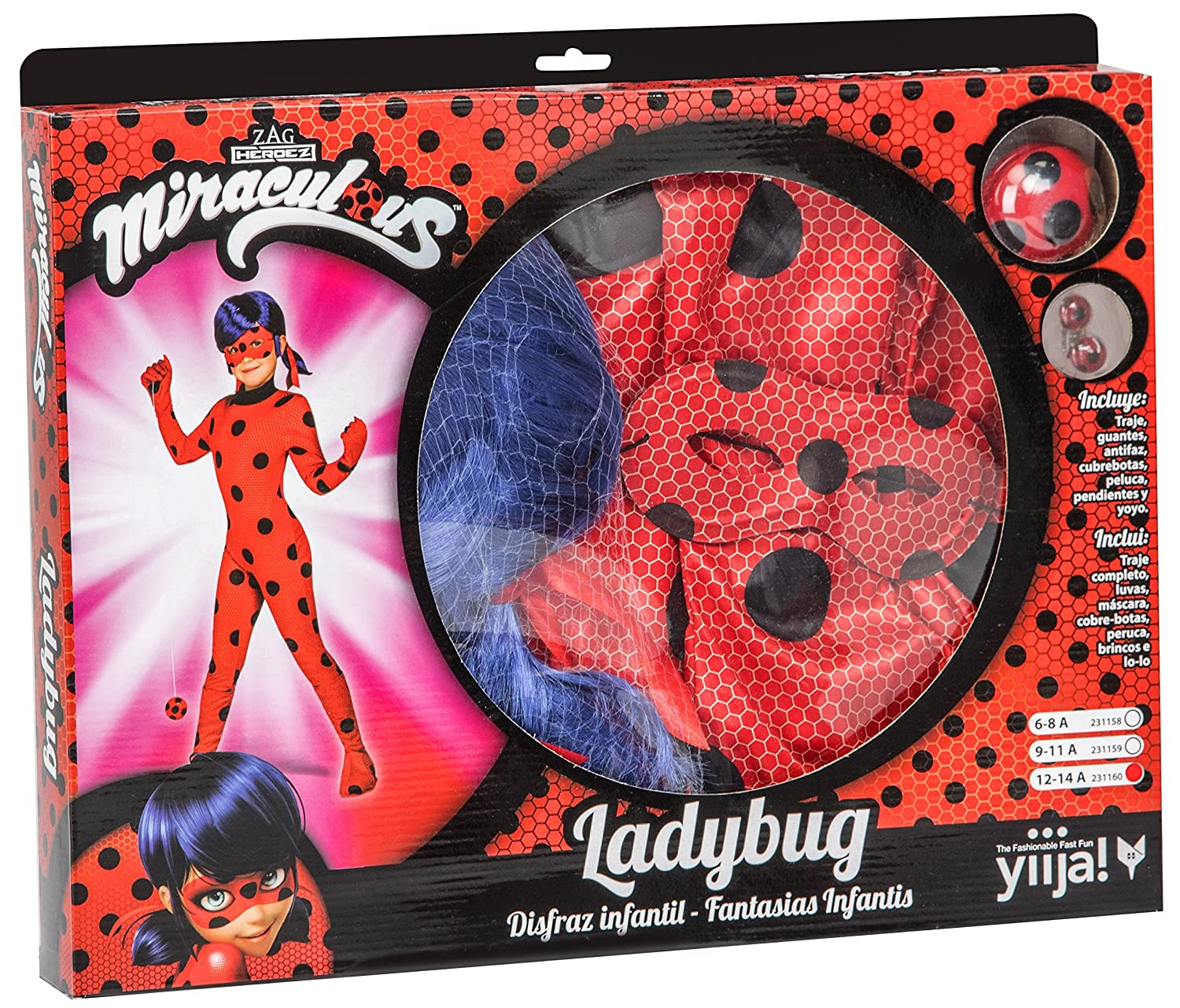 My Other Me Me Me- Miraculous Ladybug Lady Bug Disfraz, Color Rojo, 6-8 AÑOS (231158): Amazon.es: Juguetes y juegos